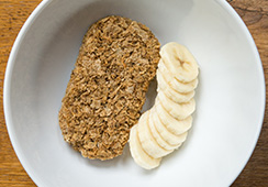 1 Weetabix with ½ banana