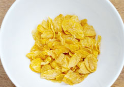 Dry flaked cereal -  6 heaped tablespoons of cornflakes