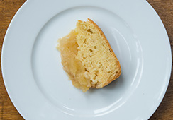 3 tablespoons apple sponge cake