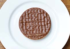 1 chocolate coated biscuit