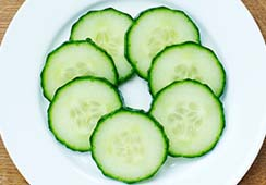 7 slices of cucumber