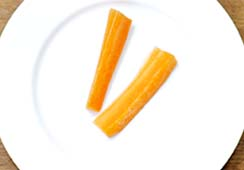 2 carrot sticks