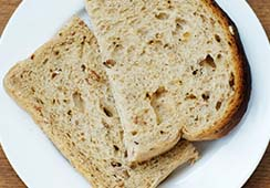 Bread slices (fresh or toasted) - 1 slice of granary bread