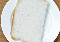 Bread slices (fresh or toasted) - 1/2 slice of white bread