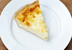 1 small slice of quiche