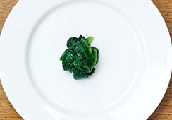 1/2 tablespoon of cooked spinach